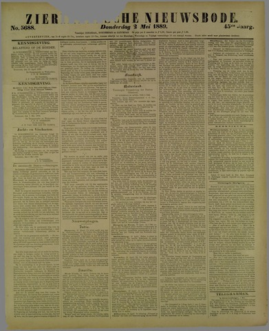 Zierikzeesche Nieuwsbode 1889-05-02