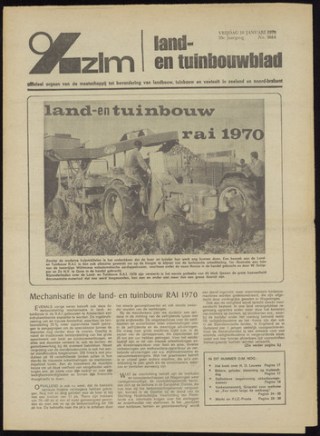 Zeeuwsch landbouwblad ... ZLM land- en tuinbouwblad 1970-01-14