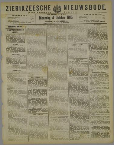 Zierikzeesche Nieuwsbode 1915-10-04