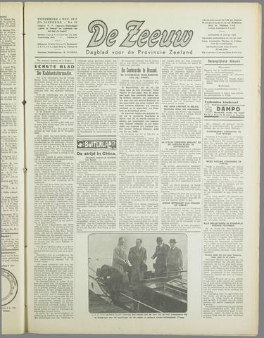 De Zeeuw. Christelijk-historisch nieuwsblad voor Zeeland 1937-11-04
