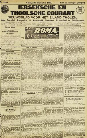 Ierseksche en Thoolsche Courant 1930-09-26