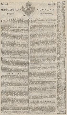 Middelburgsche Courant 1761-09-08