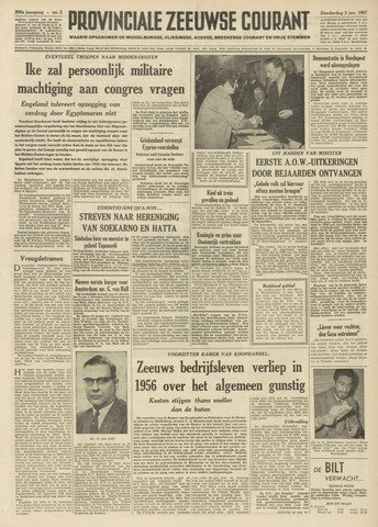 Provinciale Zeeuwse Courant 1957-01-03