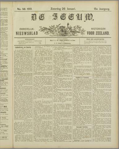 De Zeeuw. Christelijk-historisch nieuwsblad voor Zeeland 1901-01-26