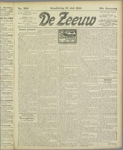 De Zeeuw. Christelijk-historisch nieuwsblad voor Zeeland 1919-07-31