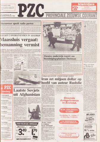 Provinciale Zeeuwse Courant 1989-02-16