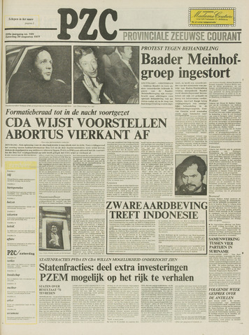 Provinciale Zeeuwse Courant 1977-08-20