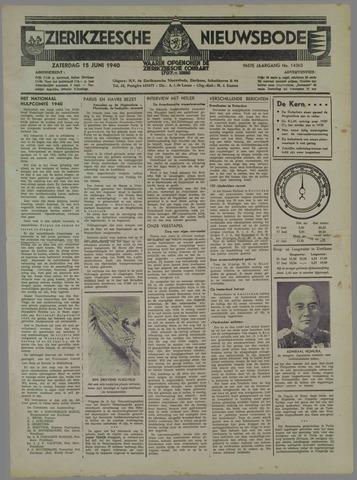 Zierikzeesche Nieuwsbode 1940-06-15