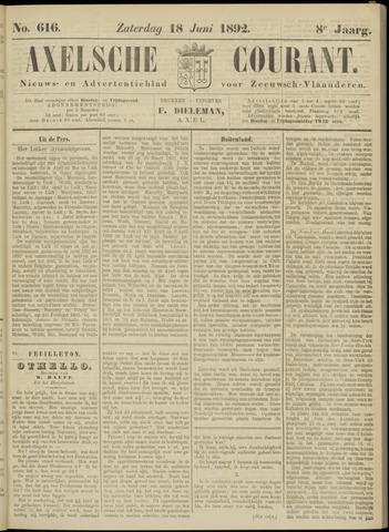 Axelsche Courant 1892-06-18