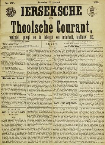 Ierseksche en Thoolsche Courant 1891-01-17