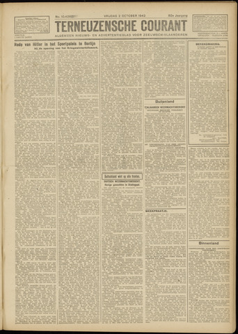 Ter Neuzensche Courant. Algemeen Nieuws- en Advertentieblad voor Zeeuwsch-Vlaanderen / Neuzensche Courant ... (idem) / (Algemeen) nieuws en advertentieblad voor Zeeuwsch-Vlaanderen 1942-10-02