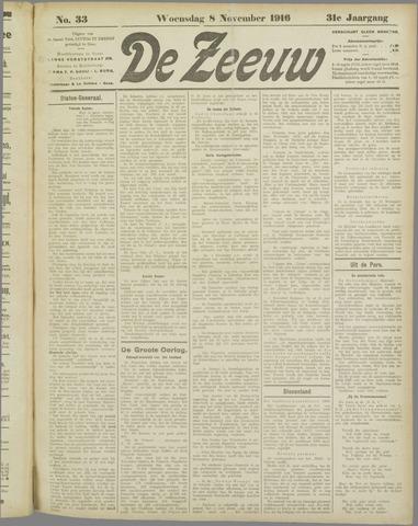 De Zeeuw. Christelijk-historisch nieuwsblad voor Zeeland 1916-11-08