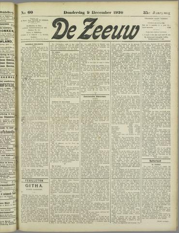 De Zeeuw. Christelijk-historisch nieuwsblad voor Zeeland 1920-12-09