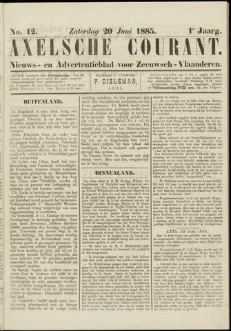 Axelsche Courant 1885-06-20