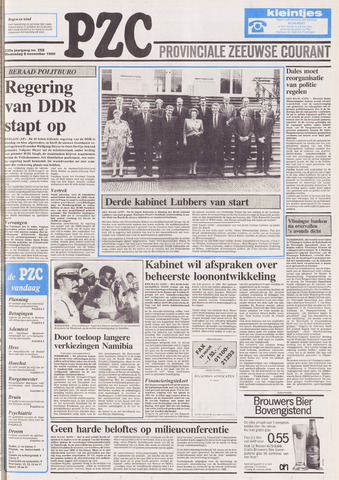 Provinciale Zeeuwse Courant 1989-11-08
