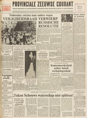 Provinciale Zeeuwse Courant 1967-06-15