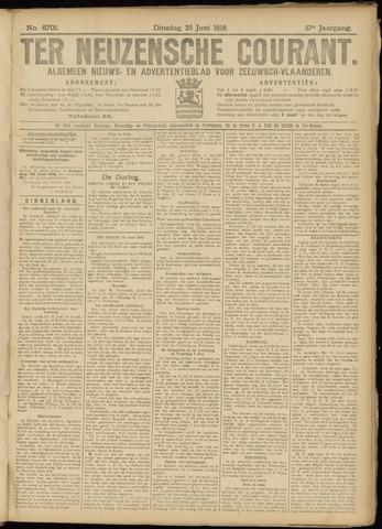 Ter Neuzensche Courant. Algemeen Nieuws- en Advertentieblad voor Zeeuwsch-Vlaanderen / Neuzensche Courant ... (idem) / (Algemeen) nieuws en advertentieblad voor Zeeuwsch-Vlaanderen 1918-06-25