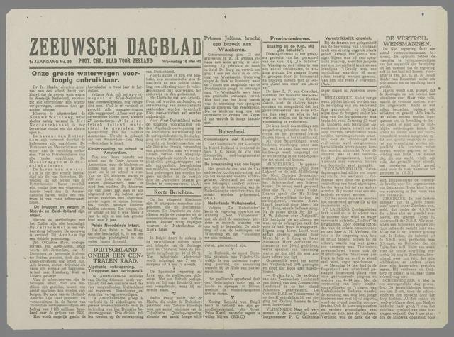 Zeeuwsch Dagblad 1945-05-16