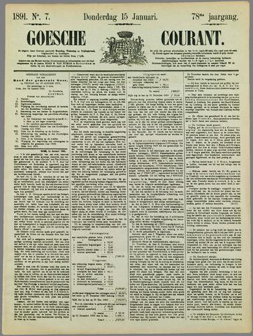 Goessche Courant 1891-01-15