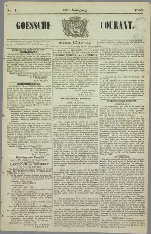 Goessche Courant 1857-01-12