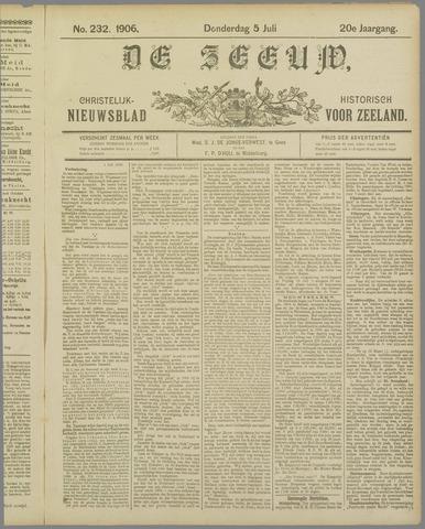 De Zeeuw. Christelijk-historisch nieuwsblad voor Zeeland 1906-07-05