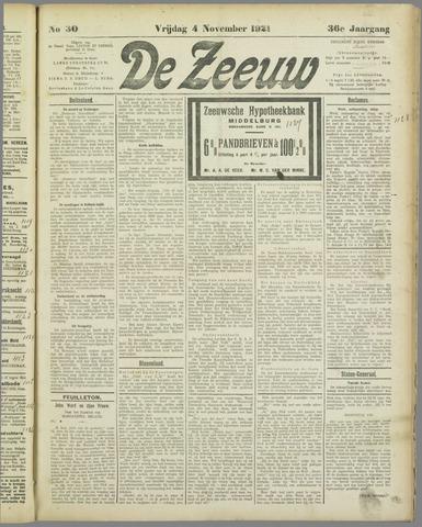 De Zeeuw. Christelijk-historisch nieuwsblad voor Zeeland 1921-11-04