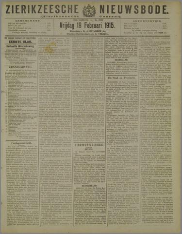 Zierikzeesche Nieuwsbode 1915-02-19
