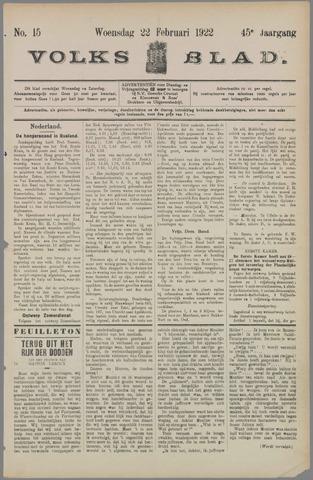Volksblad 1922-02-22