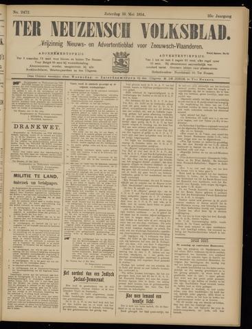 Ter Neuzensch Volksblad. Vrijzinnig nieuws- en advertentieblad voor Zeeuwsch- Vlaanderen / Zeeuwsch Nieuwsblad. Nieuws- en advertentieblad voor Zeeland 1914-05-16