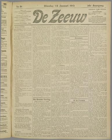 De Zeeuw. Christelijk-historisch nieuwsblad voor Zeeland 1917-01-23