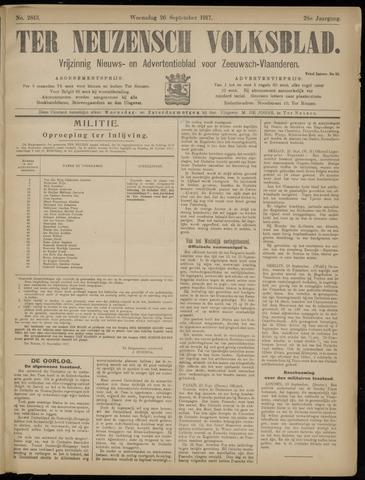 Ter Neuzensch Volksblad. Vrijzinnig nieuws- en advertentieblad voor Zeeuwsch- Vlaanderen / Zeeuwsch Nieuwsblad. Nieuws- en advertentieblad voor Zeeland 1917-09-26