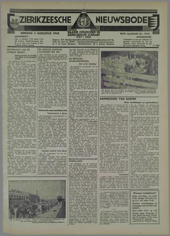 Zierikzeesche Nieuwsbode 1942-08-04