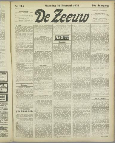 De Zeeuw. Christelijk-historisch nieuwsblad voor Zeeland 1924-02-25