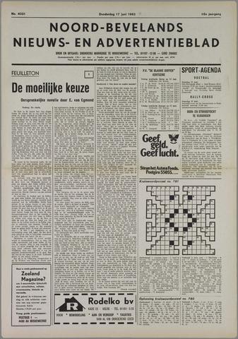 Noord-Bevelands Nieuws- en advertentieblad 1982-06-17