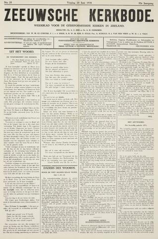Zeeuwsche kerkbode, weekblad gewijd aan de belangen der gereformeerde kerken/ Zeeuwsch kerkblad 1938-06-24