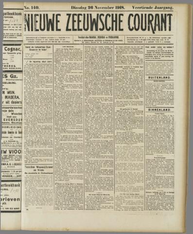 Nieuwe Zeeuwsche Courant 1918-11-26