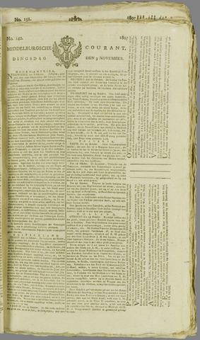 Middelburgsche Courant 1807-11-03