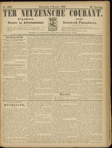 Ter Neuzensche Courant. Algemeen Nieuws- en Advertentieblad voor Zeeuwsch-Vlaanderen / Neuzensche Courant ... (idem) / (Algemeen) nieuws en advertentieblad voor Zeeuwsch-Vlaanderen 1896-10-08