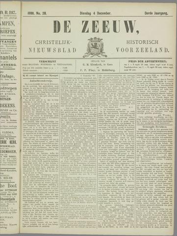 De Zeeuw. Christelijk-historisch nieuwsblad voor Zeeland 1888-12-04