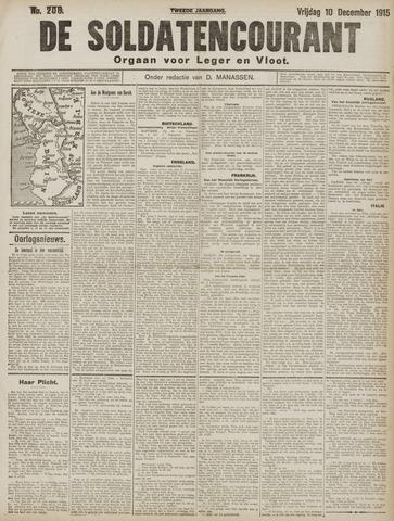 De Soldatencourant. Orgaan voor Leger en Vloot 1915-12-10