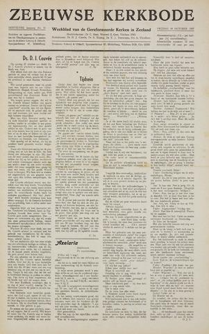 Zeeuwsche kerkbode, weekblad gewijd aan de belangen der gereformeerde kerken/ Zeeuwsch kerkblad 1957-10-18