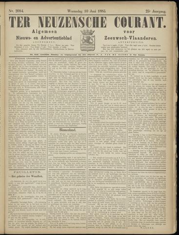 Ter Neuzensche Courant. Algemeen Nieuws- en Advertentieblad voor Zeeuwsch-Vlaanderen / Neuzensche Courant ... (idem) / (Algemeen) nieuws en advertentieblad voor Zeeuwsch-Vlaanderen 1885-06-10