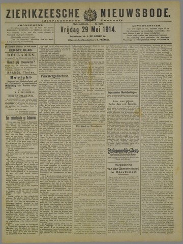 Zierikzeesche Nieuwsbode 1914-05-29
