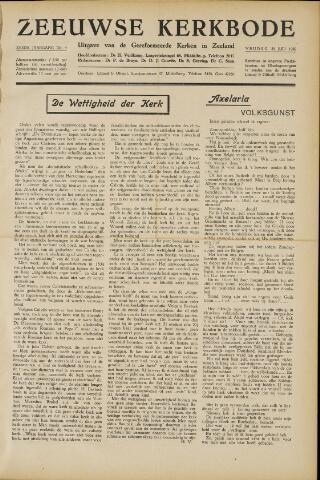 Zeeuwsche kerkbode, weekblad gewijd aan de belangen der gereformeerde kerken/ Zeeuwsch kerkblad 1950-07-28