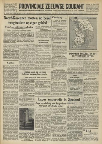 Provinciale Zeeuwse Courant 1950-09-29