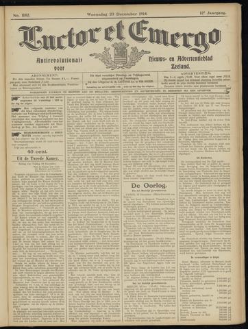 Luctor et Emergo. Antirevolutionair nieuws- en advertentieblad voor Zeeland / Zeeuwsch-Vlaanderen. Orgaan ter verspreiding van de christelijke beginselen in Zeeuwsch-Vlaanderen 1914-12-23