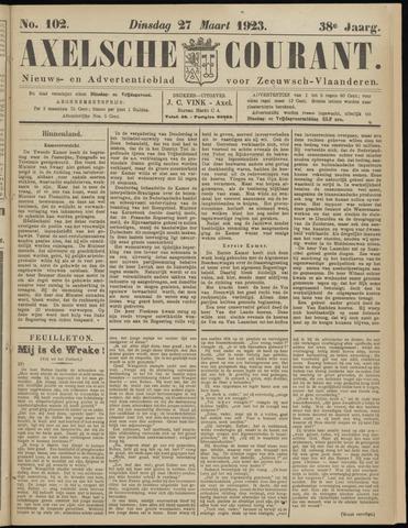 Axelsche Courant 1923-03-27