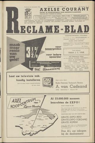 Axelsche Courant 1958-08-13