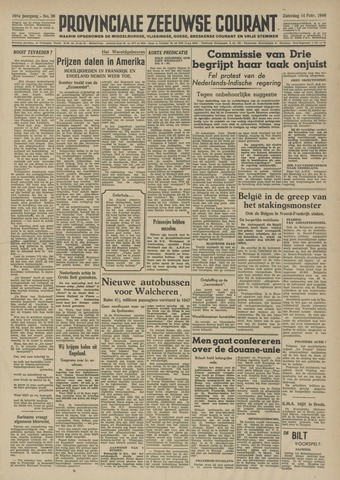 Provinciale Zeeuwse Courant 1948-02-14