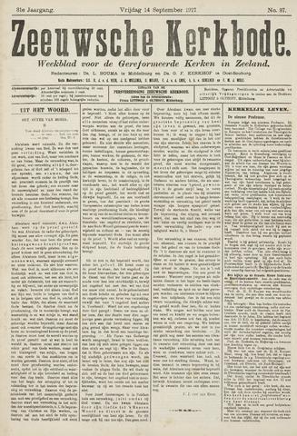 Zeeuwsche kerkbode, weekblad gewijd aan de belangen der gereformeerde kerken/ Zeeuwsch kerkblad 1917-09-14